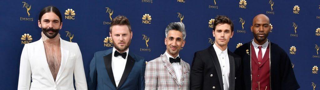 O FabFive de QueerEye: JVN, Bobby, Tan, Antoni e Karamo.